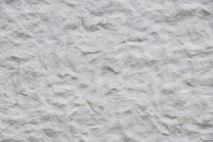 White wall of embossed decorative plaster Royalty Free Stock Photography