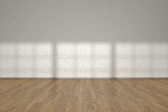 White wall of empty room with parquet floor Royalty Free Stock Images