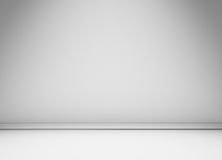 White wall with floor moulding Royalty Free Stock Photography