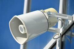 White wall loudspeaker Stock Images