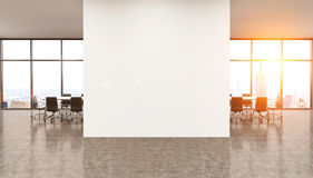 White wall in modern office. Stock Images