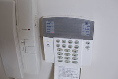 White wall mounted entry phone system Stock Image