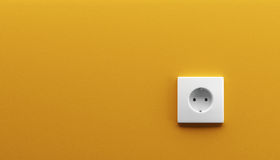 White wall outlet Stock Photography
