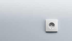 White wall outlet Royalty Free Stock Photography