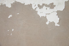 White wall paint peeling off. Texture Stock Images