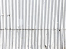 White wall painted metal gofrolist Stock Photography