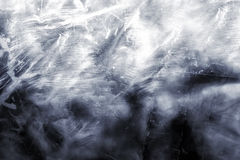 White wall with patches of soot Stock Image
