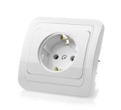 White wall power socket Royalty Free Stock Photos