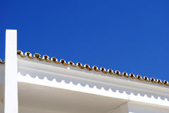 White wall and roof tiles Royalty Free Stock Photography