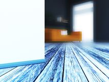 White wall in the room, 3d royalty free stock photos