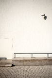 White wall with security camera Royalty Free Stock Photo