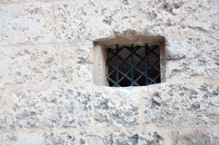White wall and small window Royalty Free Stock Images