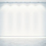 White wall with spotlights Royalty Free Stock Photography