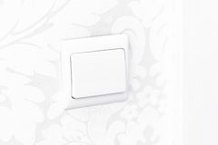 White wall switch - contact and light Stock Photos