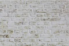 White wall texture. white brick Royalty Free Stock Photo