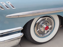 White Wall Tire, and Fancy Hub Cap of a 1958 American Made Stock Photography