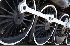 White wall Train wheels Stock Images