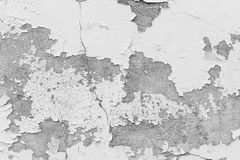 White wall, white wall with cracks for background. Stock Photo