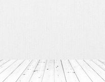 White wall and wood floor Royalty Free Stock Photo