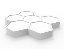 White wallpaper background for cover design 3d render Royalty Free Stock Images