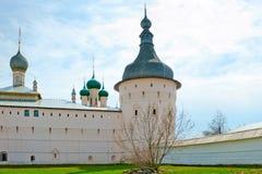 White walls of ancient Rostov Kremlin Stock Photo