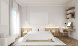 White walls bedroom Stock Photo