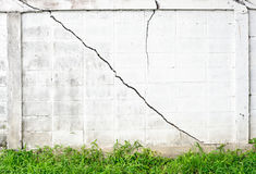 White walls cracked Royalty Free Stock Images