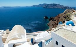 The white walls of Oia. Royalty Free Stock Image