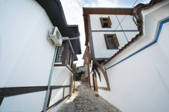 The white walls of the old Plovdiv in Bulgaria Royalty Free Stock Photos