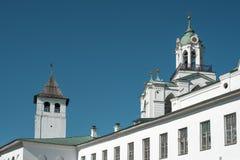 Russian orthodox monastery stock image