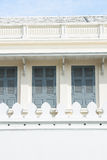 White walls and windows. Royalty Free Stock Photo