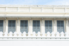 White walls and windows. Royalty Free Stock Images