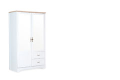White wardrobe isolated on white background Stock Image