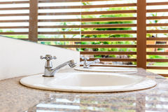 White wash basin Royalty Free Stock Photos