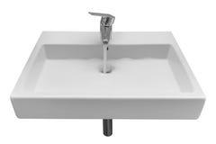 White wash basin isolated on white background Royalty Free Stock Photography