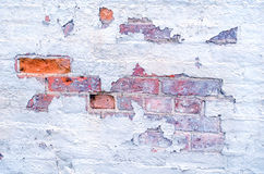 White washed brick wall Royalty Free Stock Photo