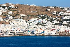 White washed mykonos Royalty Free Stock Image