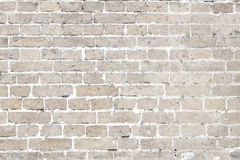 White washed old brick wall horizontal background. Vintage white washed brick wall horizontal background texture. Home and office design backdrop in modern style royalty free stock photo