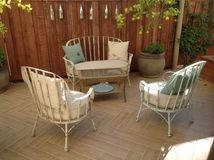 White Washed Patio Furniture Stock Photography