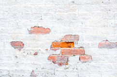 White washed  wall Royalty Free Stock Photo