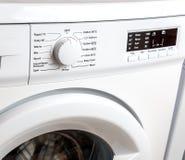 White Washing Machine Closeup Stock Photo