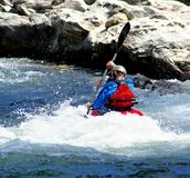 White Water. Man kayaking the Chattooga River Stock Photos