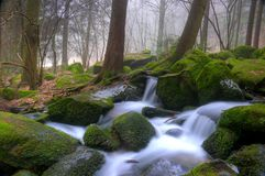 White water. Little creek in Bavaria in spring Stock Photography