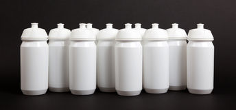 White water bottles Stock Image