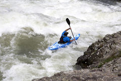 White water canoeing Stock Photo
