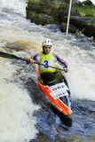 White Water Canoeist Royalty Free Stock Images