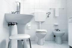 White Water-closet Royalty Free Stock Image