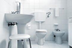 White Water-closet Royalty Free Stock Image