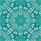 White water drops on turquoise background. Vector. Stock Photography