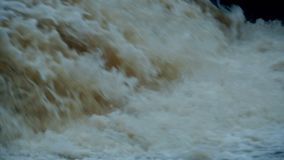 White water falls. Stream close to Slow motion stock video